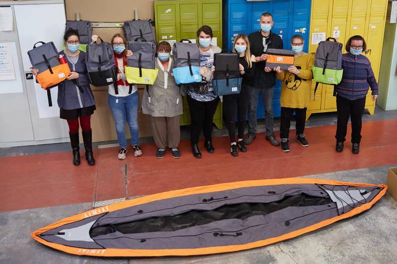 LA VIRGULE opts for upcycling and turns kayaks into bagpacks