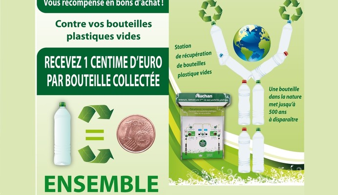 Auchan supports the circular economy:  giving our bottles a 2nd life!