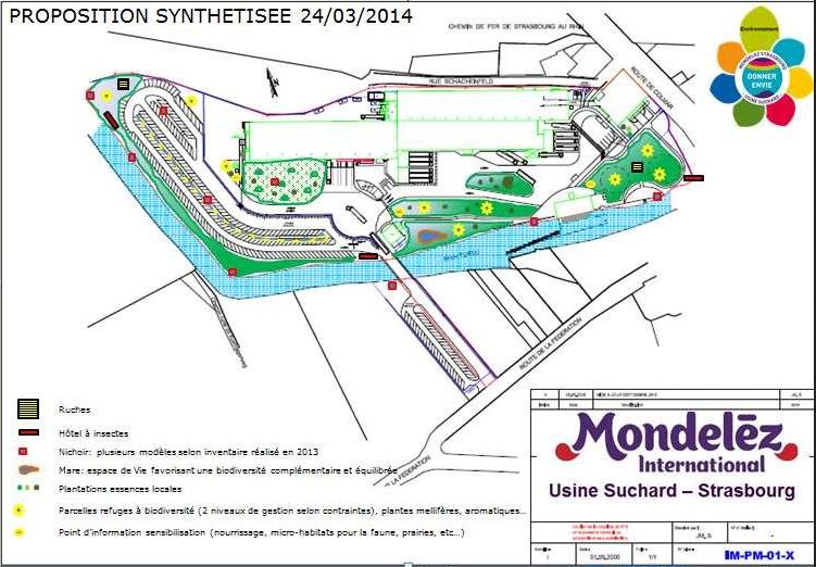 Mise en place d'une gestion favorisant la biodiversité sur le site de l'usine SUCHARD (CARAMBAR & CO) de Strasbourg