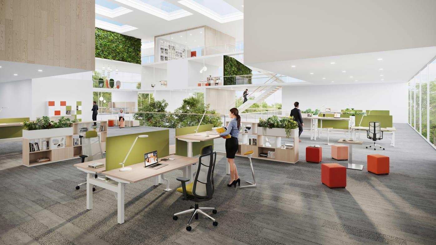FLENDER (SIEMENS) fluidifie les échanges entre les employés grâce à l'open space.